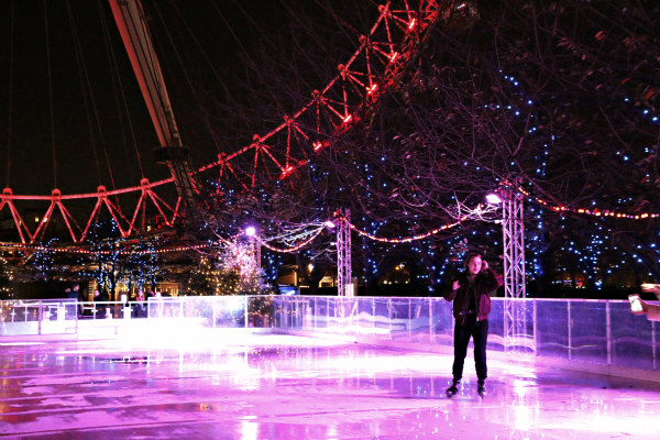 London Eye Frostival ice rink