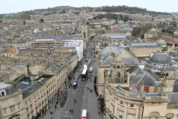 Bath cathedral view
