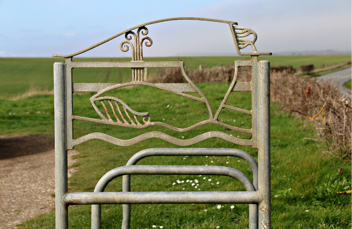 Isle of Wight Coastal Path 5 Bike rack Whale Chine