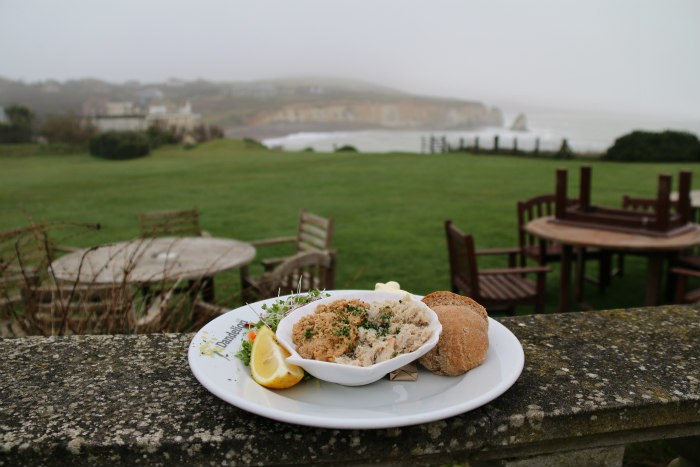 Isle of Wight Freshwater Bay dressed crab at the Dandelion Café