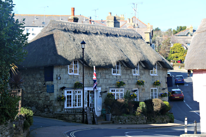 Isle of Wight Shanklin Old Village Thatch roofs 2