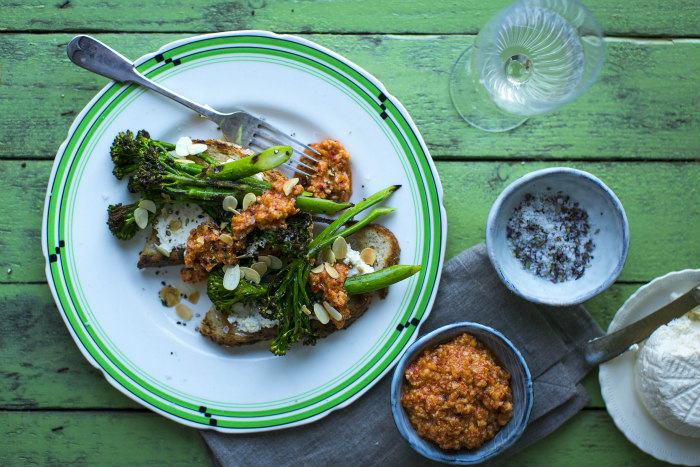 Donal Skehan's Charred Tenderstem and Romesco