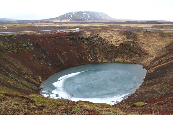 Islande Iceland lac volcan lake volcano