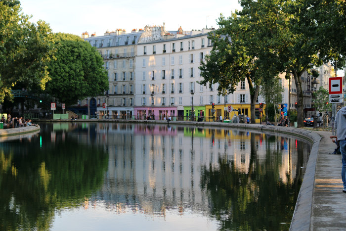 paris france canal saint martin reflection 5