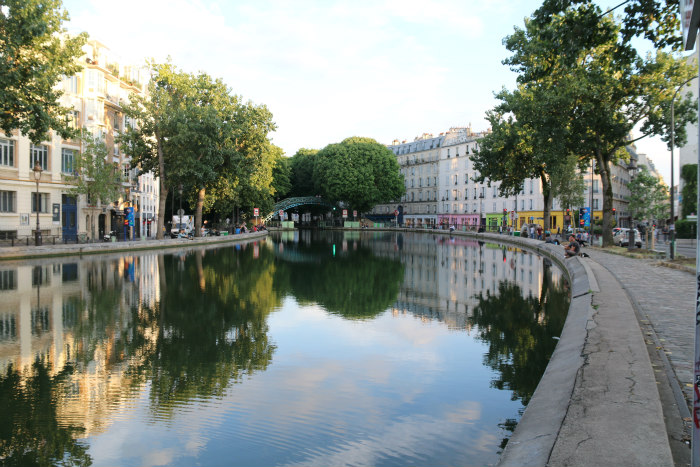 paris france canal saint martin reflection 6