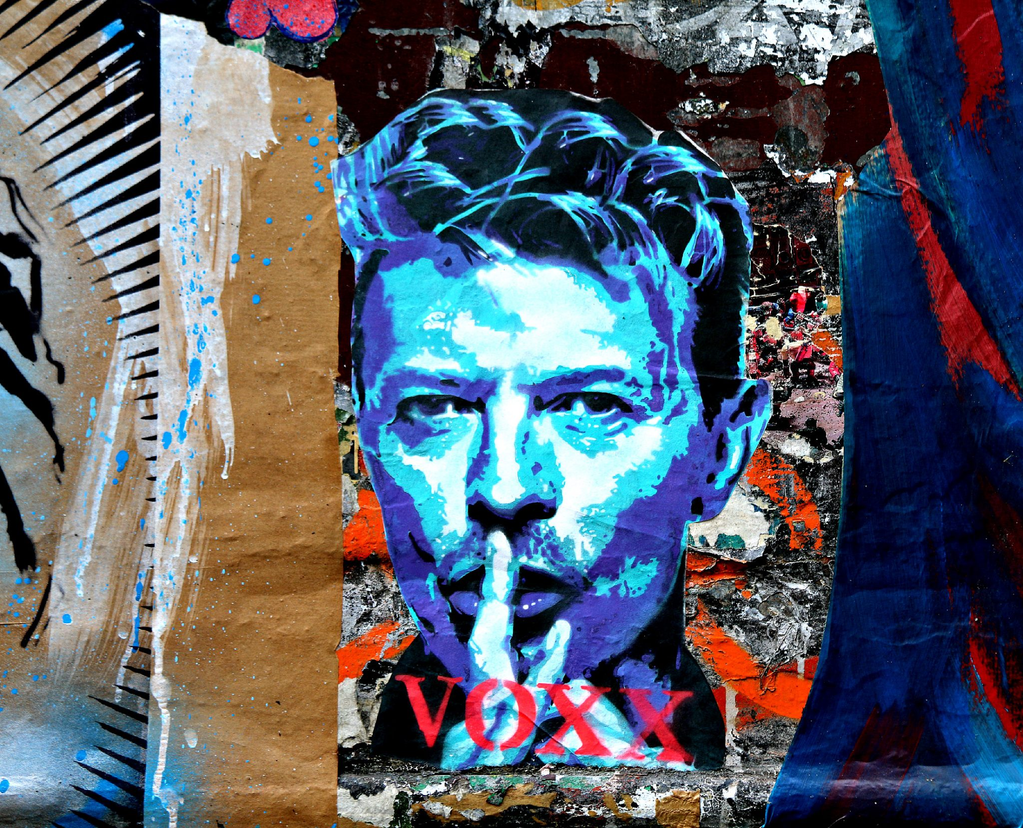 où trouver du street art à shoreditch fournier street David Bowie Voxx Romana