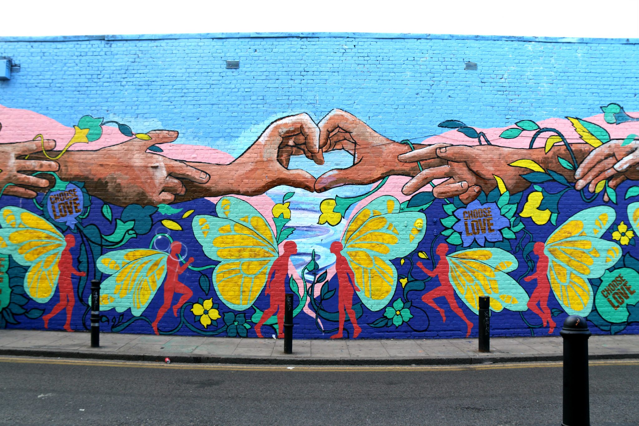 où trouver du street art à shoreditch hanbury street Choose Love Majid Adin