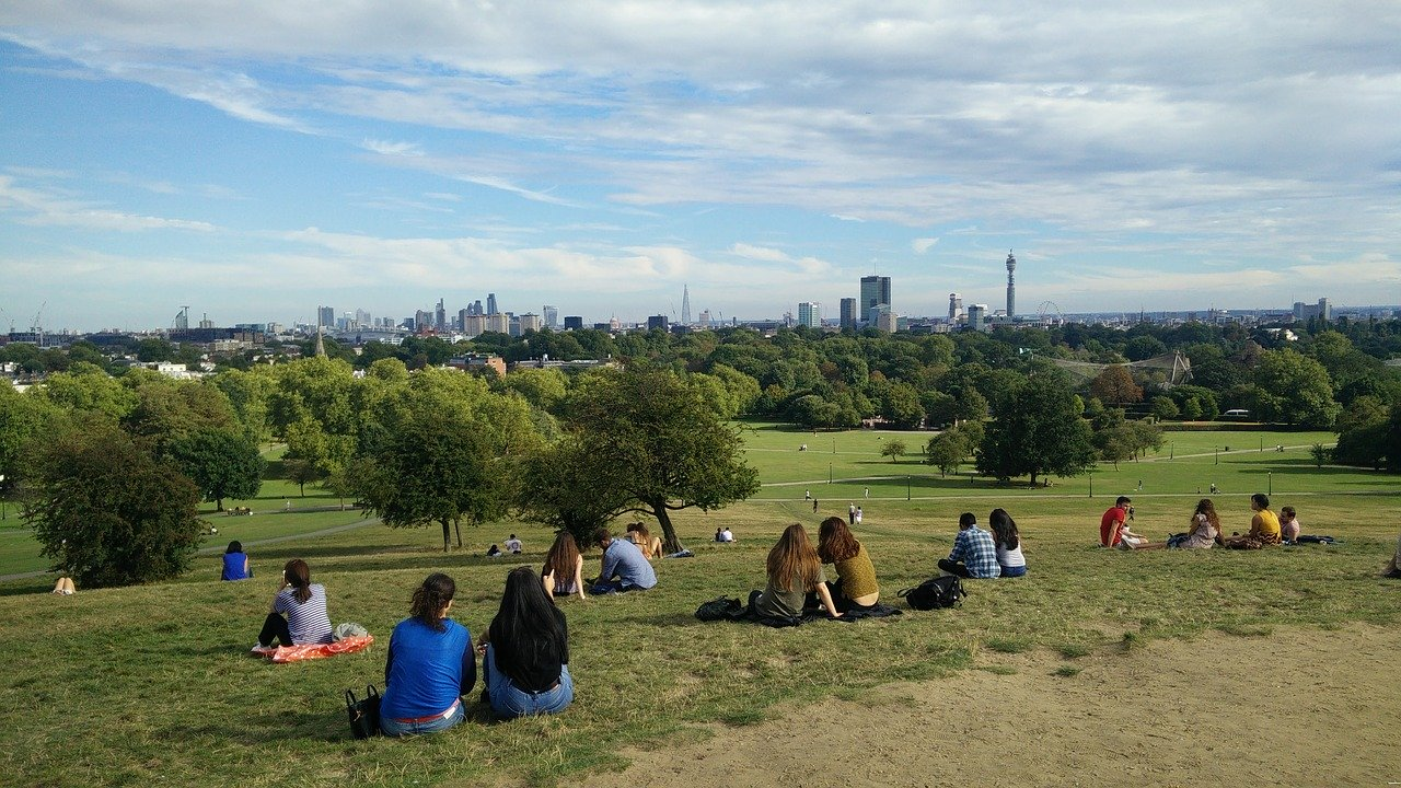 people sitting london